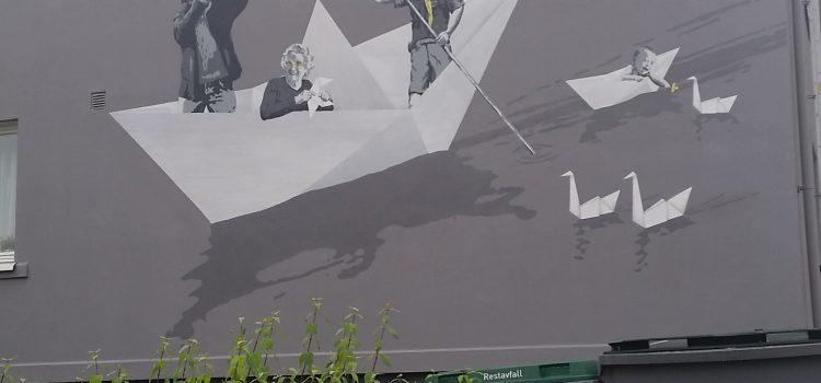 Origami vegg